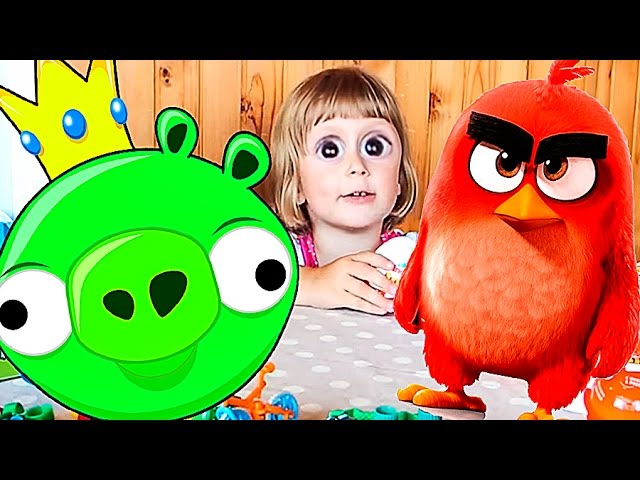 Angri-berds-kinder-syurpriz-raspakovka-kinder-dzhoj.-Angry-Birds-surprise-eggs.-8212-Part-2