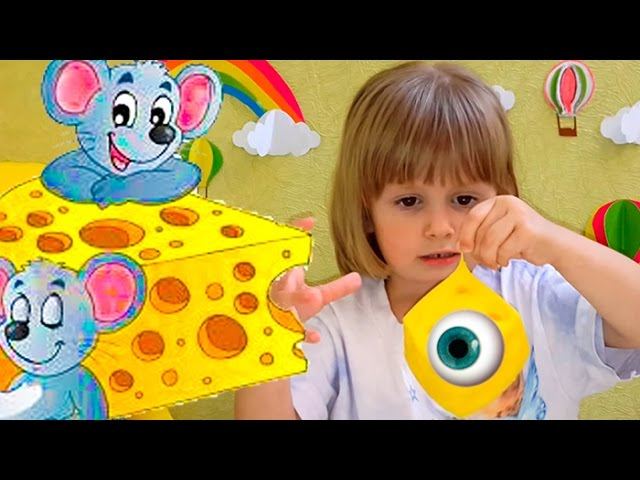 Igry-dlya-detej-Myshki-i-syr-igrushka-raspakovka-Stretchy-Mice-and-cheese-unboxing-toy