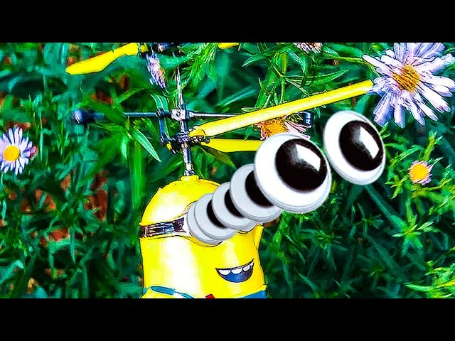 Letayushhij-minon-ot-NASTYUSHIK-raspakovka-igrushki-zapuskaem-Unboxing-flying-Minion-boy-run-it-on