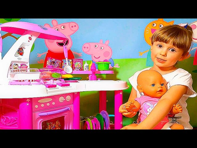 SVINKA-PEPPA-SUPER-KUHNYA-MASHA-i-NASTYA-Igry-Dlya-Detej-Peppa-Pig-Super-toy-Kitchen-Playset-Peppa-Pig