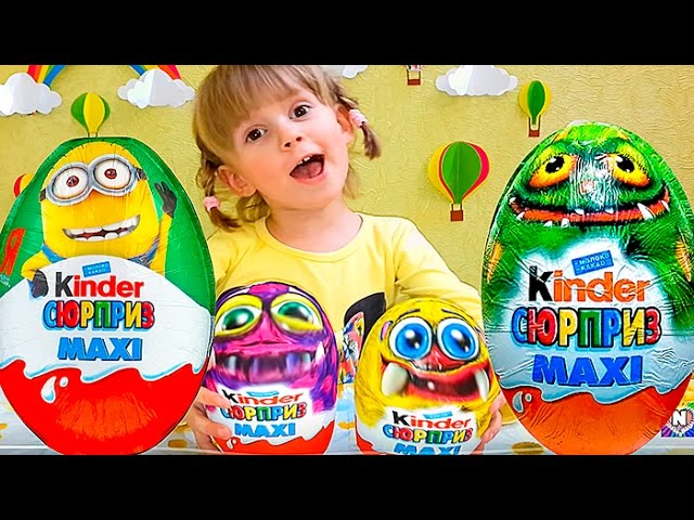 Video-Igrushki-kinder-syurpriz-maksi-Monstry-miks-hellouin-Mix-amp-Match-Monster-Halloween