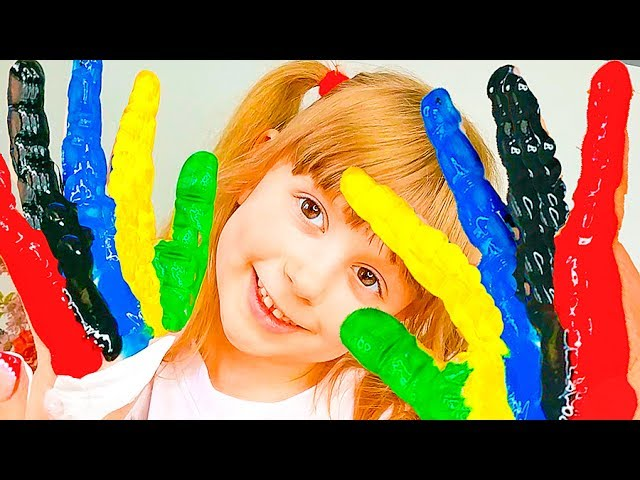 Learn-Colors-with-Baby-no-Gumball-Candy-for-Children-Song-Finger-Family-Nursery-Rhymes-for-kids