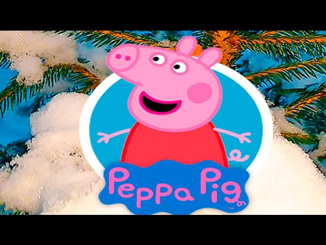 SVINKA-PEPPA-I-DZHORDZH-Zimoj-igrayut-v-snegu-Peppa-Pig-and-George-winter